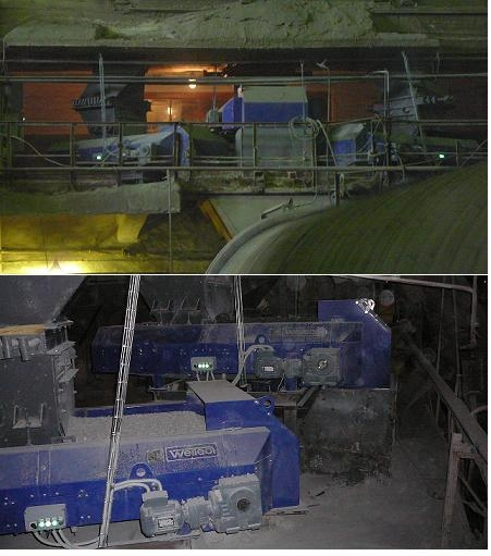 Feeding system into cement mills at PJSC