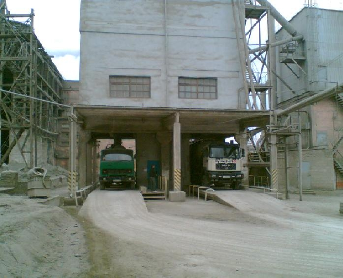 Loading system of cement in the cement trucks on the PJSC